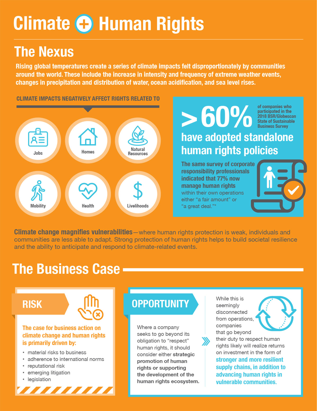 Climate Nexus: Human Rights, infographic