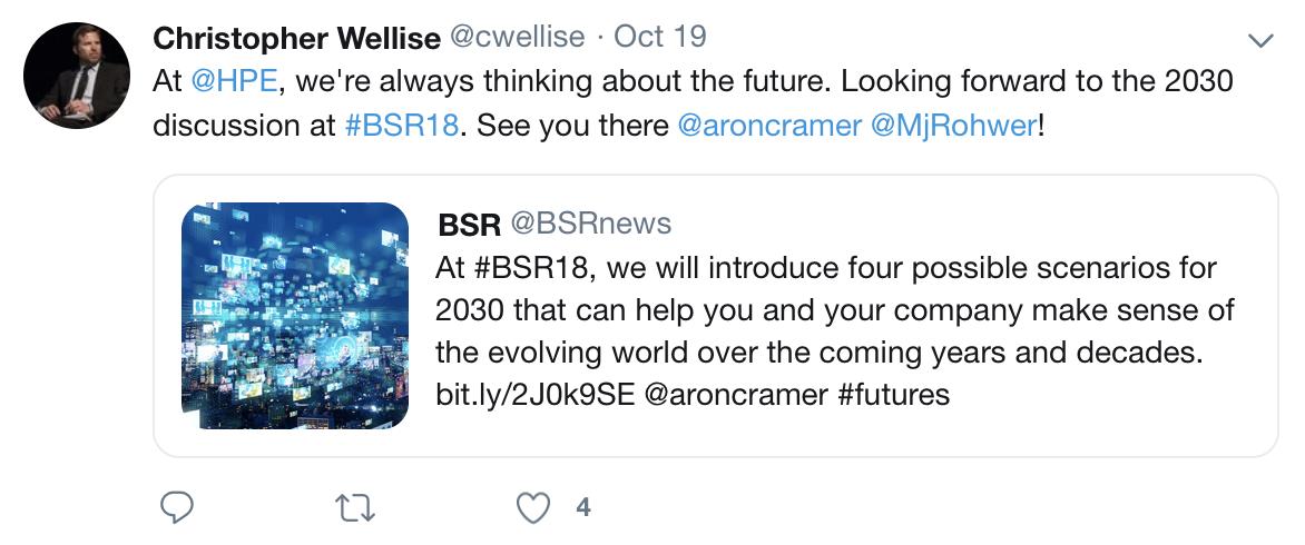 BSR18 HPE Tweet