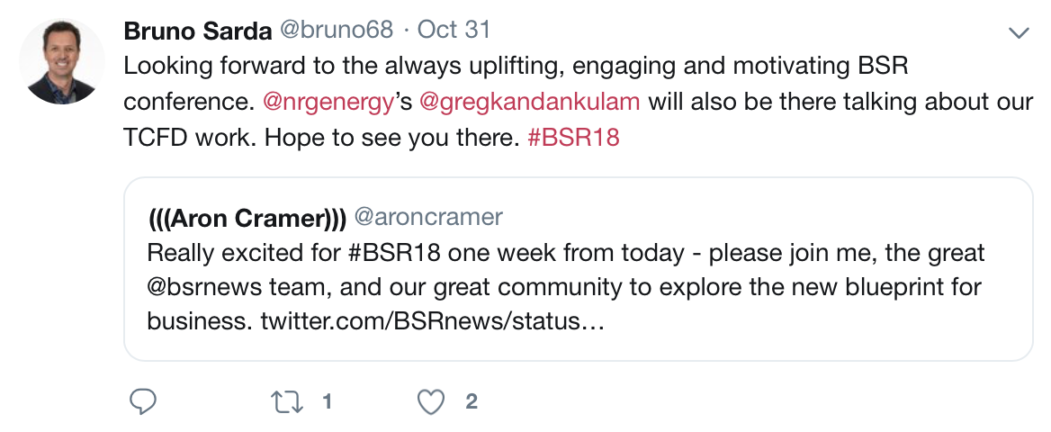 BSR18 Bruno Sarda NRG Tweet