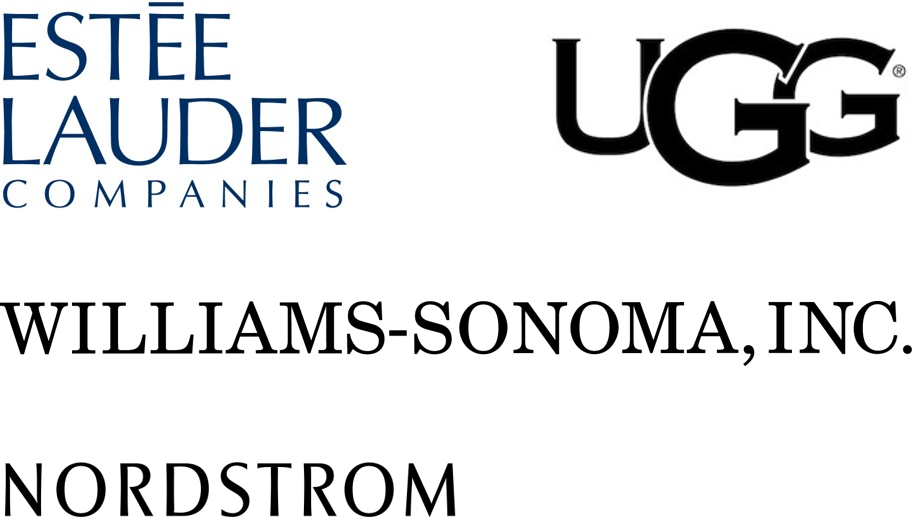 Estee Lauder, UGG, Williams Sonoma logos